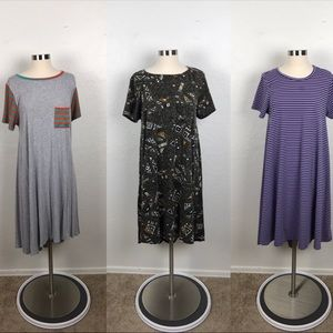 LulaRoe Bundle of 3 Dresses Size M